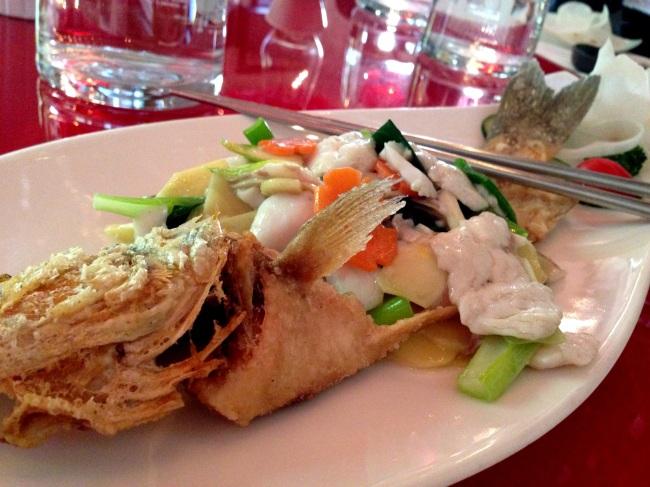 Branzino in crosta con verdure1